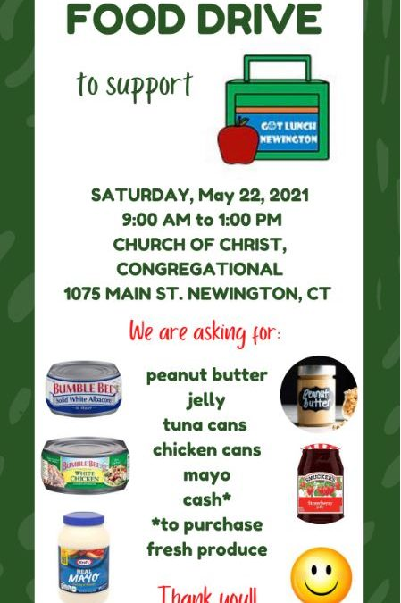 Food Drive for Got Lunch, May 22nd, 9am-1pm